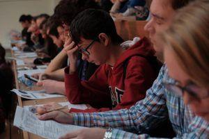 Представители Молодежной палаты Басманного района проверят знания по истории у школьников. Фото: Максим Аносов, «Вечерняя Москва»