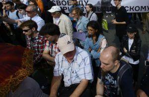 Митинг оппозиции на Трубной площади провалился. Фото: Сергей Шахиджанян, «Вечерняя Москва»