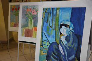 Выставка творчества советского художника в библиотеке района скоро закроется. Фото Анна Быкова