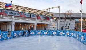 Каток открыли рядом со станцией МЦК Лужники. Фото: сайт мэра Москвы
