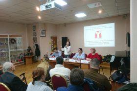 Глава управы района Ирина Лесных провела встречу с местным населением. Фото: Анатолий Акулов