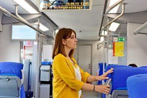 Пассажирам МЦК будет помогать чат-бот Александра. Фото: Пелагия Замятина, «Вечерняя Москва»
