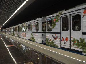 Новогодний поезд запустили через станцию «Курская». Фото: Антон Гердо, «Вечерняя Москва»