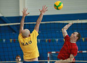 Волейболисты из Бауманского университета выиграли в финале высшей лиги. Фото: Наталия Нечаева, «Вечерняя Москва»